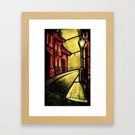Lamplight Street Framed Art Print