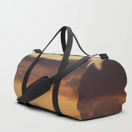 Sunset clouds Duffle Bag