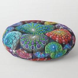 Jewel Drop Mandala Stone Collection #1 Floor Pillow
