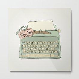 Retro typewriter Metal Print