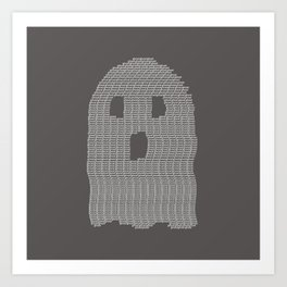 Ghost Typography Art Print