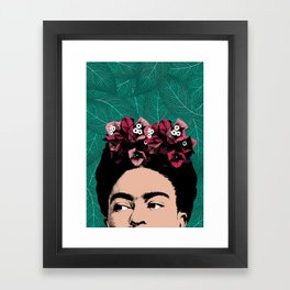 Floral Frida Framed Art Print