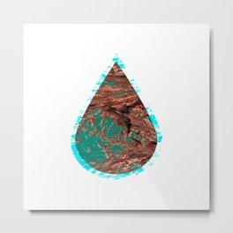 ocean raindrop III Metal Print