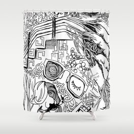Dhali fingers Shower Curtain