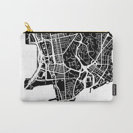 Street MAP Hong Kong // Black&White Carry-All Pouch