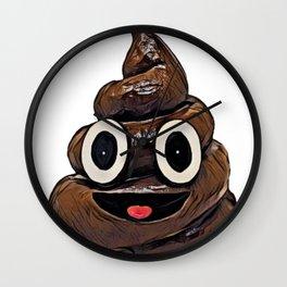 Funny Poop Funny Meme Pillow Smile Emoji Mouth Wall Clock