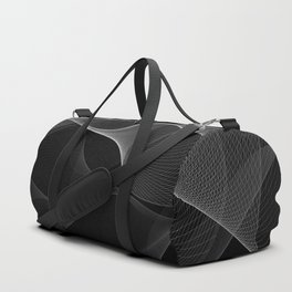 Black and White Flux #minimalist #homedecor #generativeart Duffle Bag