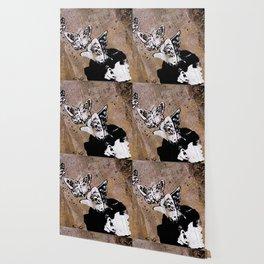 Long Gone Whisper II (street art graffiti painting, girl with butterflies) Wallpaper