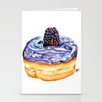 donut Stationery Cards featuring Donut by Amber-1107studio
