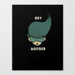 Boy Wonder {Black.} Canvas Print