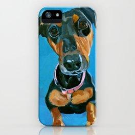 Sassy the Dashchund Dog Portrait iPhone Case