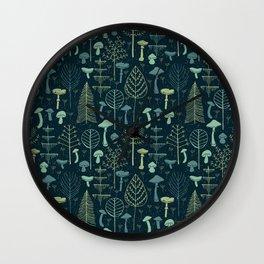 Magic Forest Green Wall Clock