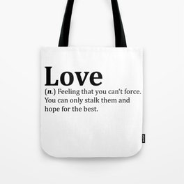 Funny Love Dictionary Meme Tote Bag
