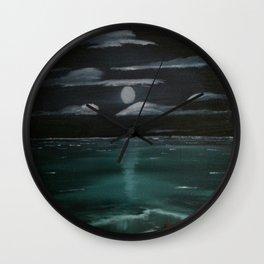 Moonrise Over Northumberland Strait Wall Clock