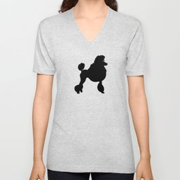 Poodle Dog Breed black Silhouette Unisex V-Neck