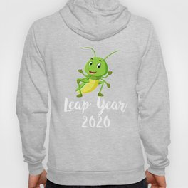 Leap Year February 29th 2020 Leap Day Grasshopper Jump Hoody