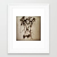 depression Framed Art Prints featuring Depression by J.E.M