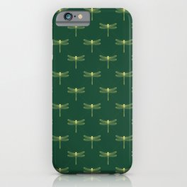 Olive Green and Yellow Dragon Flies iPhone Case