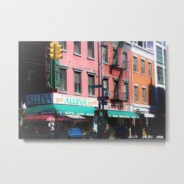 Little Italy Alleva Shop Metal Print