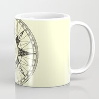 compass Mugs featuring Compass by Smokacinno