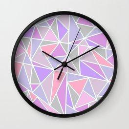Pastel Shards Geometric Pattern Wall Clock