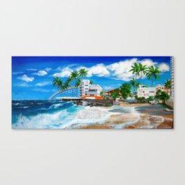 Isla Verde - $1M View, Carolina, San Juan, Puerto Rico Canvas Print
