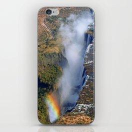 Flight over the Victoria Falls, Zambia iPhone Skin
