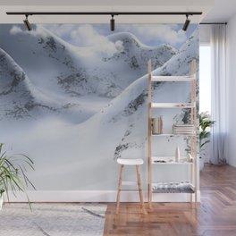 Minimal Snow Mountain Landscape Hiking 13 Wall Mural