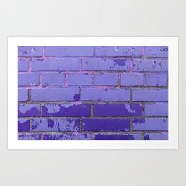 Violet Bricks Wall Texture Art Print