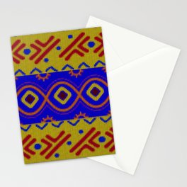 Ethnic African Knitted style design Stationery Cards