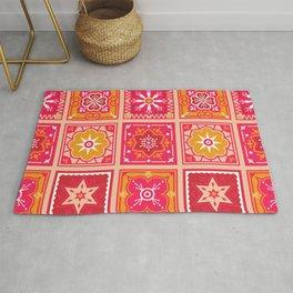 Talavera Mexican Tile – Hot Pink & Orange Palette Rug