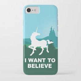 I WANT TO BELIEVE - Unicorn iPhone Case
