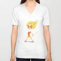 thundercats V-neck T-shirts featuring Cheetara  by Rod Perich