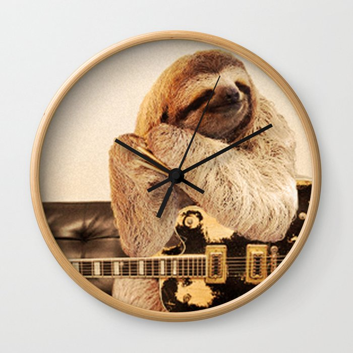 Rockstar Sloth Wall Clock