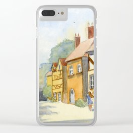 English Village in Color Clear iPhone Case