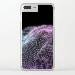 Human Body Digital Visualization Running Forward Art Clear iPhone Case