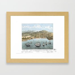 SAN FRANCISCO CALIFORNIA city old map Father Day art print poster Framed Art Print