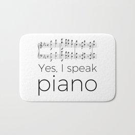 I speak piano Bath Mat