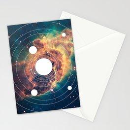 Solar System Near Nebula Stationery Cards