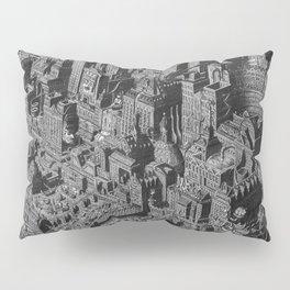 The Fantasy City. Urban Landscape Illustration. Pillow Sham
