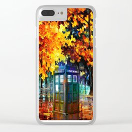 Tardis Alone Clear iPhone Case