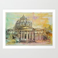 roman Art Prints featuring Ateneul Roman by Nechifor Ionut