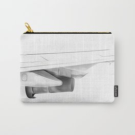 Black and white airplane Carry-All Pouch