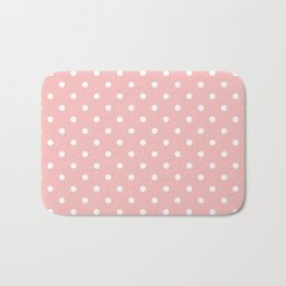 Powder Pink with White Polka Dots Bath Mat