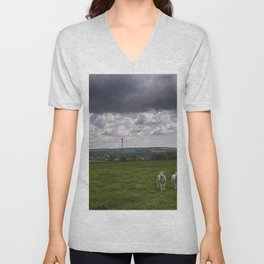 Sheep In The Stour Valley Unisex V-Neck