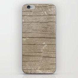 Nautical Driftwood Wood Grain Pattern iPhone Skin
