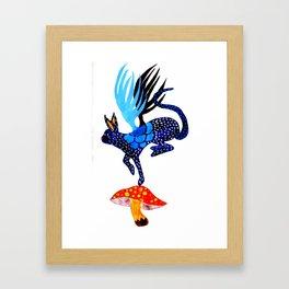 Blue Lucky Framed Art Print