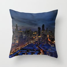 The City Of Big Shoulders Throw Pillow