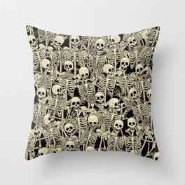 Skeleton Dance Throw Pillow