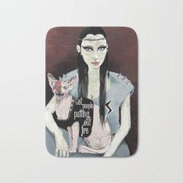 Cat people - Bowie edition. Bath Mat